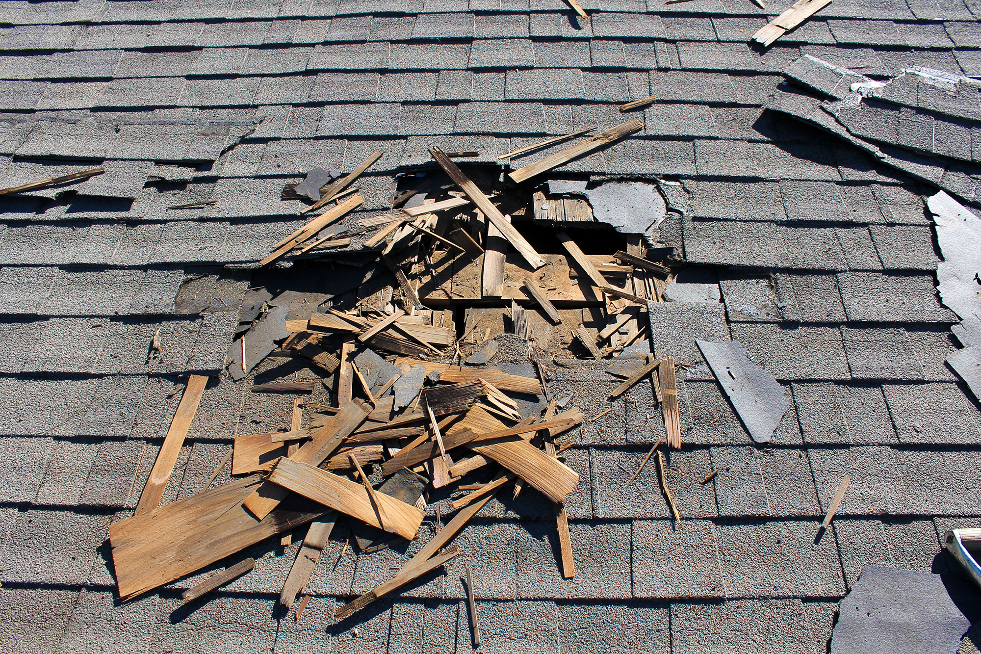 Little roof damage leads to big problems